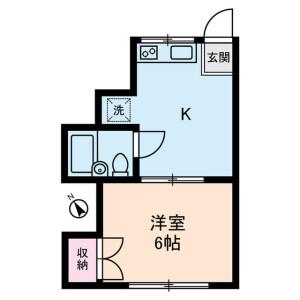 1K Apartment in Minamisuna - Koto-ku Floorplan