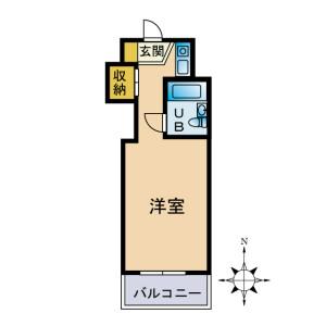 1R Mansion in Fukuda - Yamato-shi Floorplan