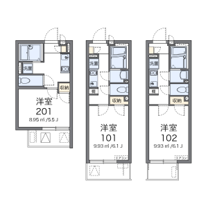 1K Mansion in Sanno - Ota-ku Floorplan