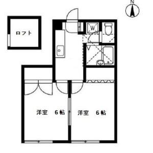 世田谷区玉川田園調布-2K公寓 楼层布局