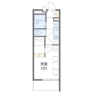 1K Mansion in Yatsuka nakacho - Soka-shi Floorplan