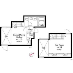 目黒區東山-1LDK公寓大廈 房間格局