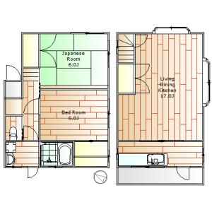 2LDK House in Chuocho - Meguro-ku Floorplan