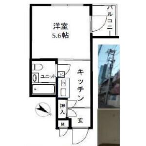 新宿区 北新宿 1K {building type} 間取り