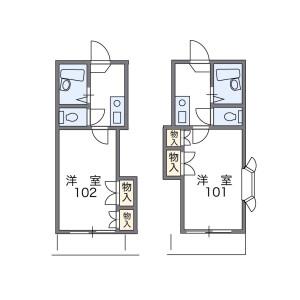 1K Apartment in Nishiomichi - Oita-shi Floorplan