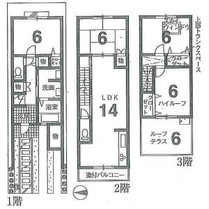 京都市東山区本町-4LDK{building type} 楼层布局