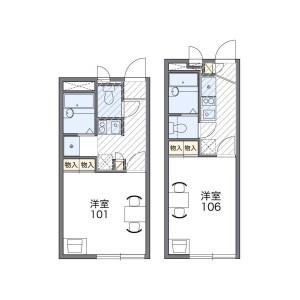 1K Apartment in Nishifuna - Funabashi-shi Floorplan