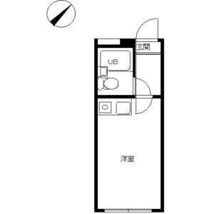 1R Apartment in Nakazato - Yokohama-shi Minami-ku Floorplan