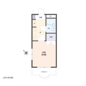 1K {building type} in Shimomaruko - Ota-ku Floorplan