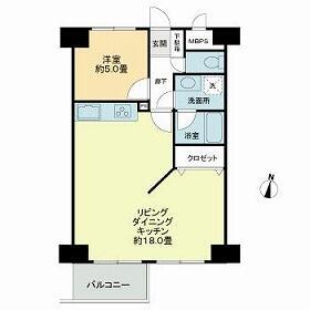 1LDK Mansion in Matsubara - Setagaya-ku Floorplan