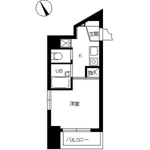 1K Mansion in Hongo - Bunkyo-ku Floorplan