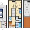 1R House to Rent in Suita-shi Floorplan