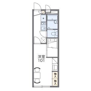 1K Apartment in Fuda - Chofu-shi Floorplan