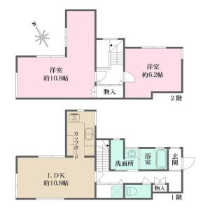 2LDK House in Tomigaya - Shibuya-ku Floorplan