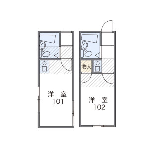 1K Apartment in Aizawa - Yokohama-shi Seya-ku Floorplan