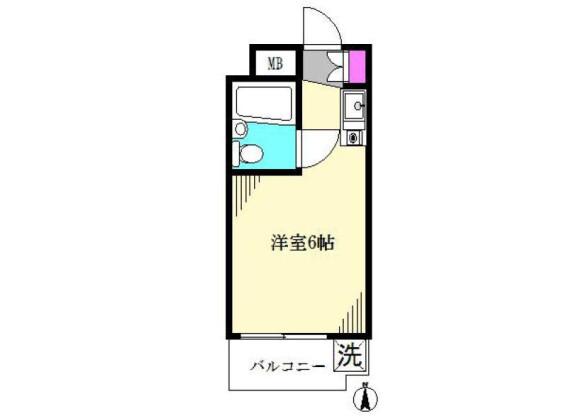 在杉並區內租賃1R 公寓大廈 的房產 房間格局