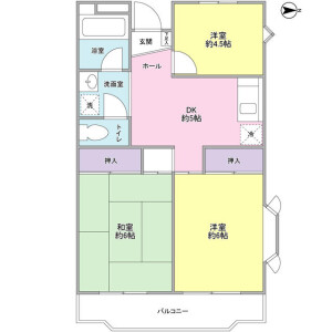 3DK Mansion in Higashisuna - Koto-ku Floorplan