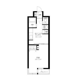 1DK Mansion in Ichigayadaimachi - Shinjuku-ku Floorplan