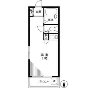 1R 아파트 in Ikebukurohoncho - Toshima-ku Floorplan
