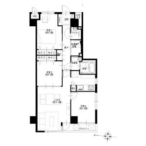 3LDK {building type} in Takanecho - Yokohama-shi Minami-ku Floorplan