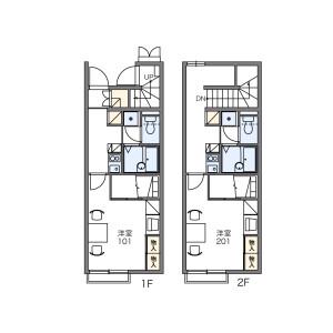 1K Apartment in Hayakawashiroyama - Ayase-shi Floorplan