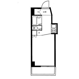 1R Mansion in Nanashimacho - Yokohama-shi Kanagawa-ku Floorplan
