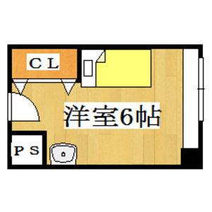 1R Mansion in Higashiyama - Hirakata-shi Floorplan
