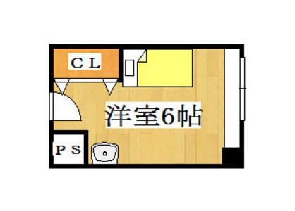1R Apartment to Rent in Hirakata-shi Floorplan