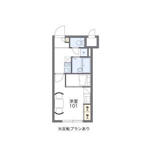 1K Mansion in Minami4-johigashi - Sapporo-shi Chuo-ku Floorplan