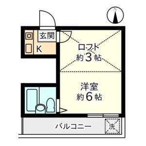 1K Apartment in Bubaicho - Fuchu-shi Floorplan