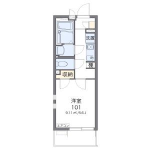 1K 아파트 in Okura - Setagaya-ku Floorplan