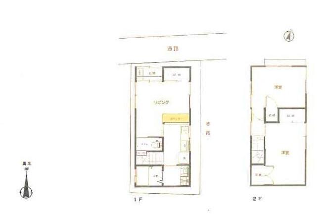 2DK House to Buy in Suginami-ku Floorplan