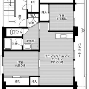 2LDK Mansion in Hatakeyama - Fukaya-shi Floorplan