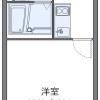 1K Apartment to Rent in Kurume-shi Floorplan