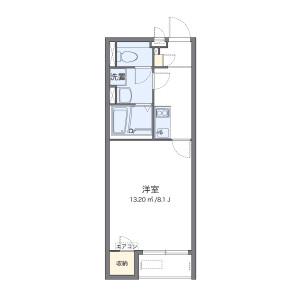 1K Apartment in Senoshitamachi - Kurume-shi Floorplan