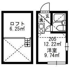 1R Mansion in Higashiueno - Taito-ku Floorplan