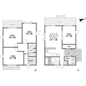 4LDK {building type} in Kabayama - Abuta-gun Kutchan-cho Floorplan