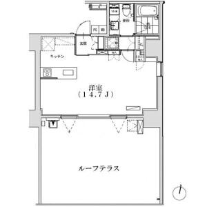 1R 맨션 in Hiroo - Shibuya-ku Floorplan