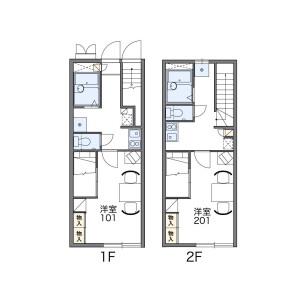 1K Apartment in Kuzuhara - Neyagawa-shi Floorplan