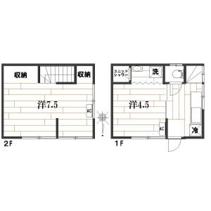 3K {building type} in Chuo - Nakano-ku Floorplan