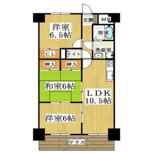 3LDK Mansion in Akahori minamimachi - Yokkaichi-shi Floorplan
