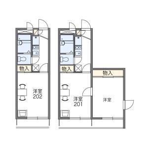 2K Apartment in Oyata - Adachi-ku Floorplan