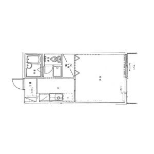 1K Apartment in Jingumae - Shibuya-ku Floorplan