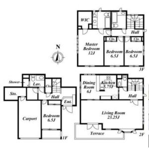 4LDK House in Daizawa - Setagaya-ku Floorplan
