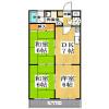 3DK Apartment to Rent in Kyoto-shi Ukyo-ku Floorplan