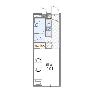 1K Mansion in Nagazu - Chiba-shi Chuo-ku Floorplan