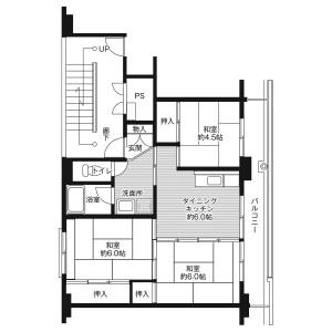 3DK Mansion in Kinoshitashin - Uozu-shi Floorplan