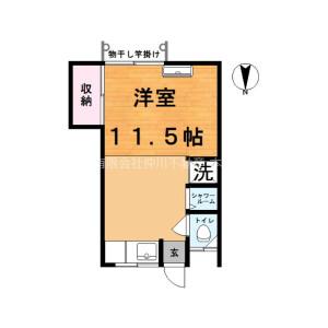 1R Apartment in Oyata - Adachi-ku Floorplan