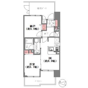 1SDK {building type} in Shimodera - Osaka-shi Naniwa-ku Floorplan