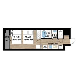1K Mansion in Nishinippori - Arakawa-ku Floorplan